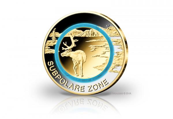 5 Euro 2020 Deutschland Subpolare Zone mit 24 Karat Goldauflage