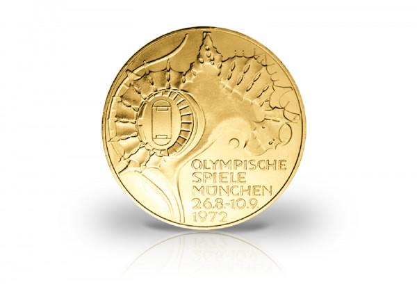10 DM 1972 BRD Olympia Sportstätten mit 24 Karat Gold