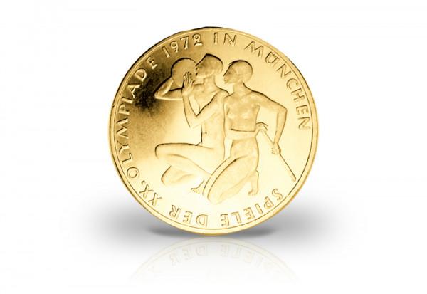 10 DM 1972 BRD Olympia Sportler mit 24 Karat Gold