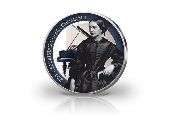 2 Euro mit Farbmotiv 200. Geburtstag Clara Schumann