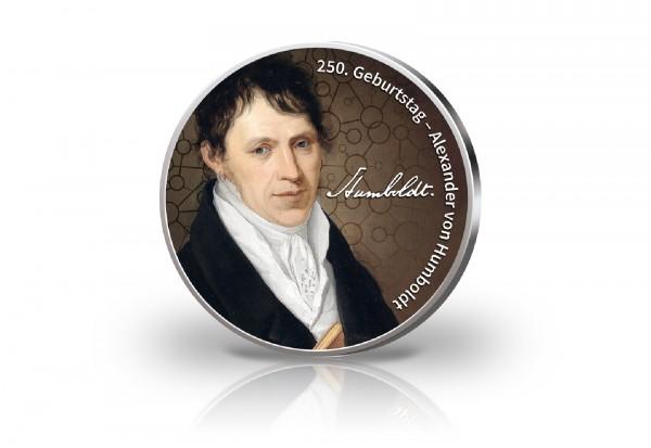2 Euro mit Farbmotiv 250. Geburtstag Alexander von Humboldt