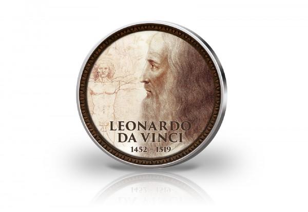 2 Euro mit Farbmotiv 500. Todestag Leonardo da Vinci