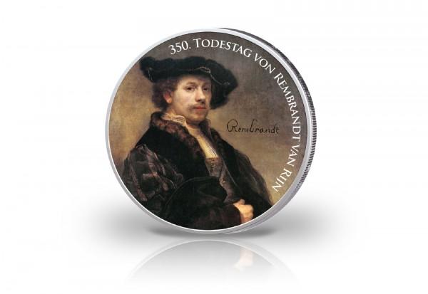 2 Euro mit Farbmotiv 350. Todestag von Rembrandt