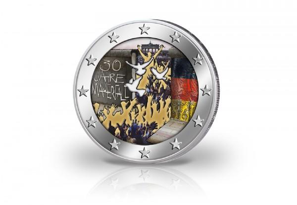 2 Euro 2019 Deutschland 30 Jahre Mauerfall Prägestätte unserer Wahl mit Farbmotiv