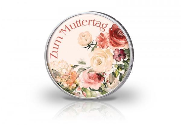 2 Euro mit Farbmotiv Muttertag