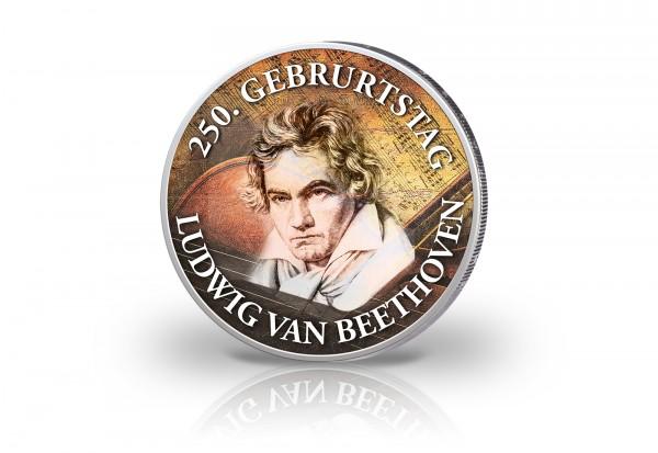 2 Euro mit Farbmotiv 250. Geburtstag Ludwig van Beethoven