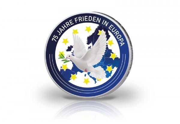 2 Euro mit Farbmotiv 75 Jahre Frieden