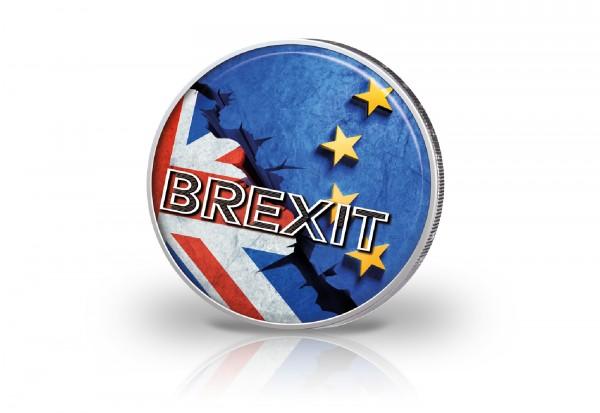 2 Euro mit Farbmotiv Brexit
