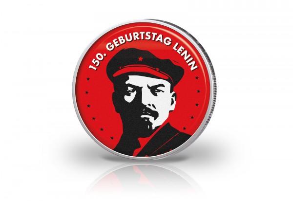 2 Euro mit Farbmotiv 150. Geburtstag von Lenin