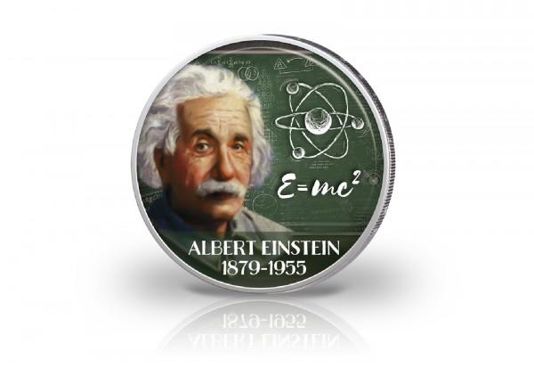 2 Euro mit Farbmotiv Albert Einstein