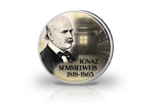 2 Euro mit Farbmotiv Ignaz Semmelweis