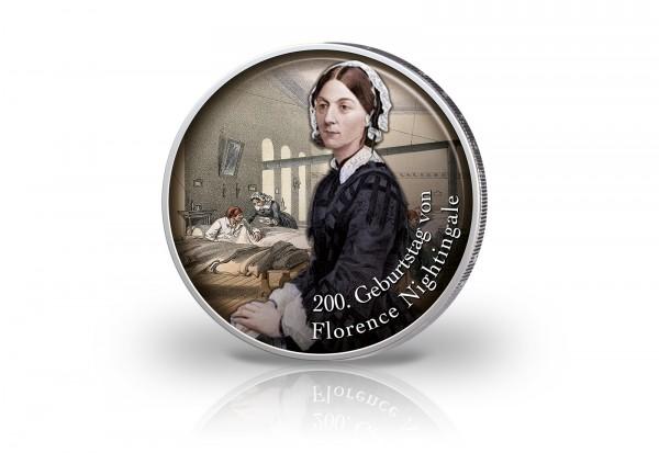 2 Euro mit Farbmotiv 200. Geburtstag von Florence Nightingale