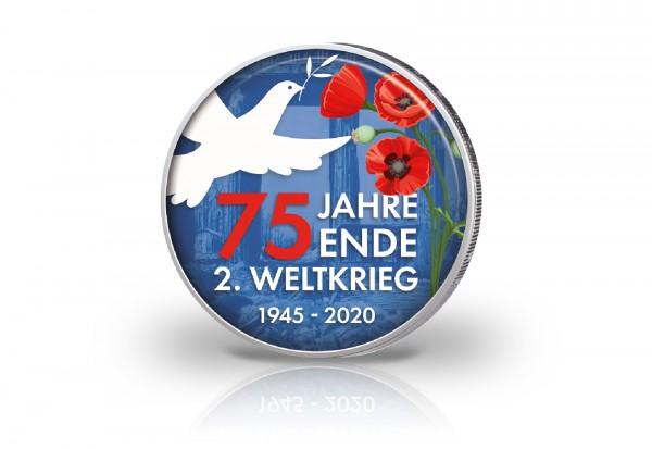2 Euro mit Farbmotiv 75 Jahre Ende des II. Weltkrieg