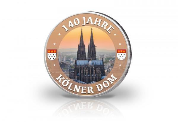 2 Euro mit Farbmotiv 140 Jahre Kölner Dom