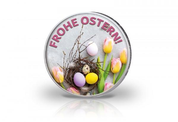 2 Euro mit Farbmotiv Ostern