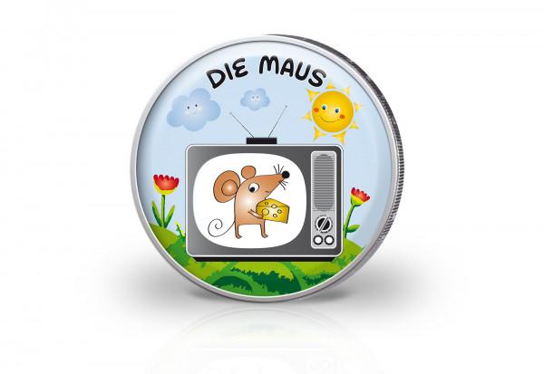 2 Euro mit Farbmotiv Sendung mit der Maus