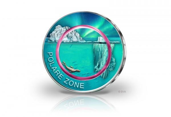 5 Euro 2021 Deutschland Polare Zone mit Farbmotiv