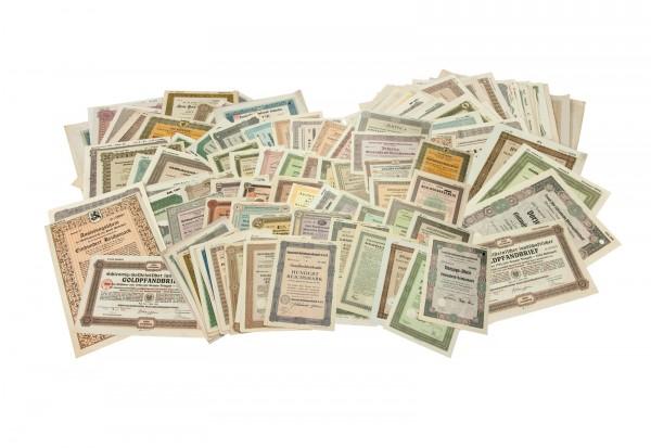 Reichsbankschatzsammlung - 75 historische Wertpapiere Deutschlands
