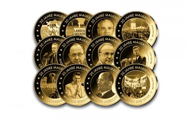 Goldmünzen 12er Kollektion 30 Jahre Mauerfall 2019
