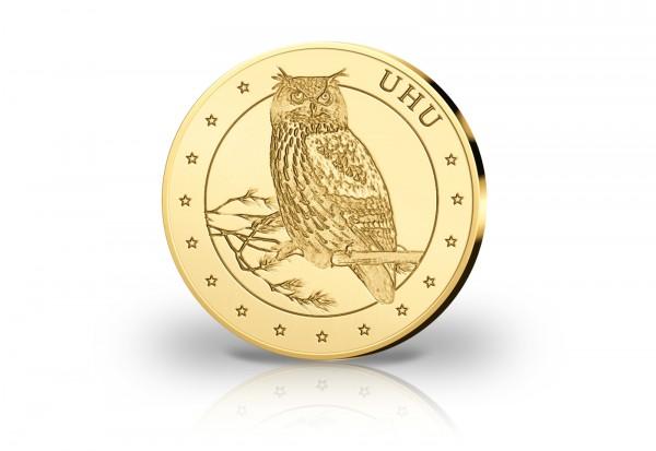 Goldausgabe 1/10 oz Uhu PP im Etui