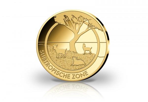 Goldausgabe 1/10 oz Subtropische Zone PP im Etui