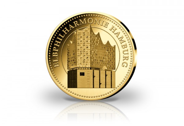 Goldausgabe 1/10 oz Elbphilharmonie PP im Etui