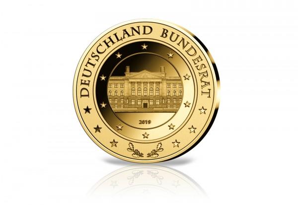 Goldausgabe 1/10 oz Bundesrat 2019 PP im Etui