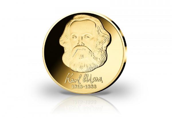 Goldausgabe 1/10 oz 200. Geburtstag von Karl Marx PP im Etui