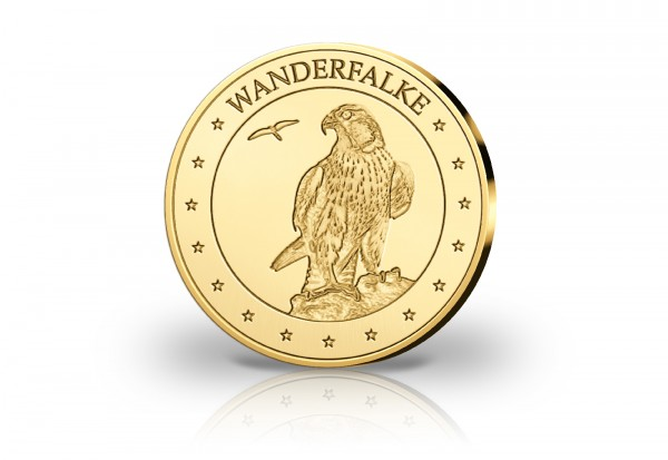Goldausgabe 1/10 oz Wanderfalke PP im Etui