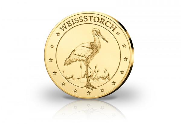 Goldausgabe 1/10 oz Weißstorch PP im Etui
