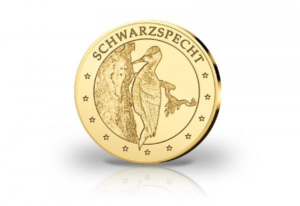 Goldausgabe 1/10 oz Schwarzspecht PP im Etui