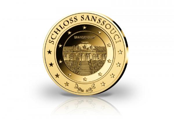 Goldausgabe 1/10 oz Schloss Sanssouci PP im Etui