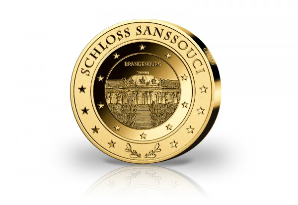 Goldausgabe 1 oz Schloss Sanssouci PP im Etui