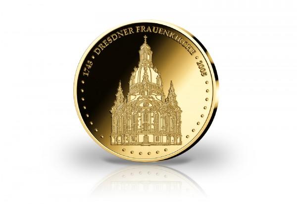 Goldausgabe 1/10 oz Dresdner Frauenkirche PP im Etui