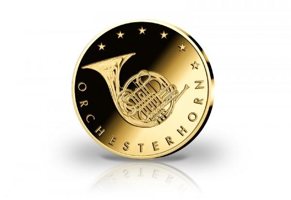 Goldausgabe 1/10 oz Orchesterhorn 2020 PP im Etui
