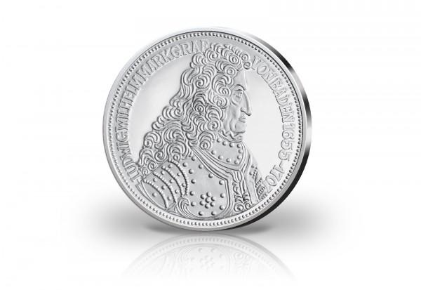 300. Geburtstag Markgraf von Baden Neuprägung mit Silberauflage