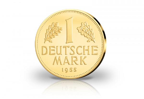 Goldausgabe 1/10 oz 1 DM 1955 G Neuprägung PP im Etui