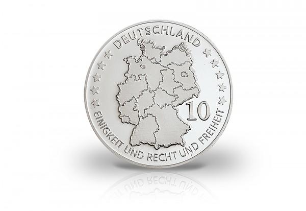 Neuprägung 100 Jahre Deutsches Museum mit Silberauflage
