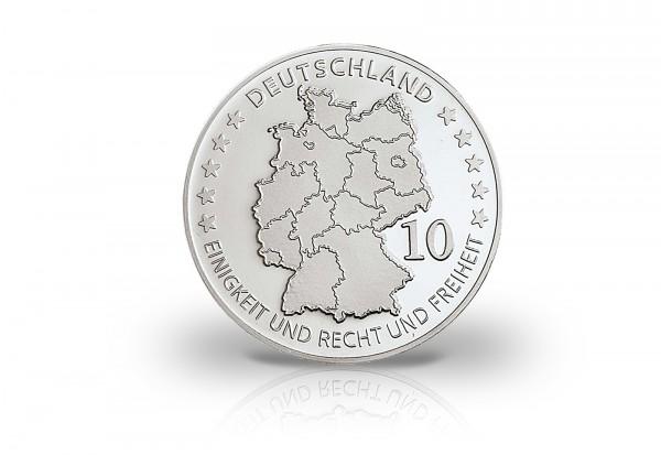 Neuprägung Karl Friedrich Schinkel mit Silberauflage