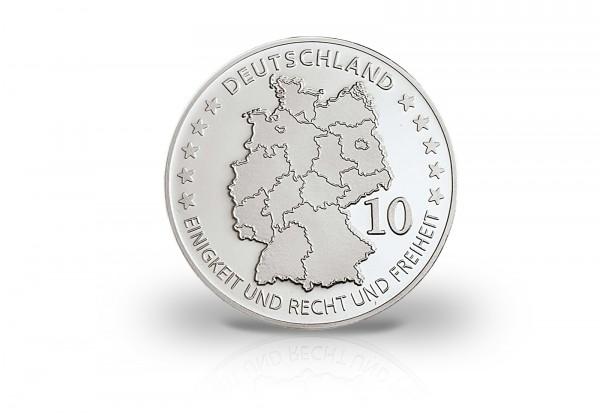 Neuprägung - Bundesbank mit Silberauflage