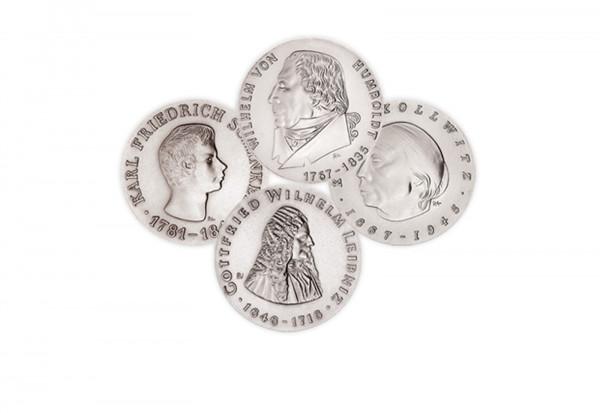 Die Ersten Vier Gedenkmünzen 1966-1967 DDR