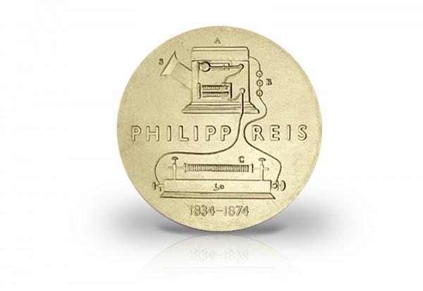 5 Mark Gedenkmünze 1974 DDR Philipp Reis Jaeger-Nr. 1550
