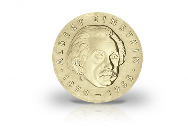 5 Mark Gedenkmünze 1979 DDR Albert Einstein Jaeger-Nr. 1572