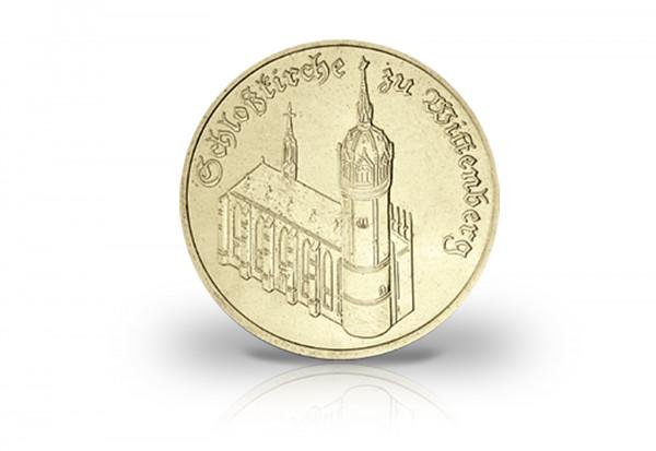 5 Mark Gedenkmünze 1983 DDR Schlosskirche zu Wittenberg Jaeger-Nr. 1588