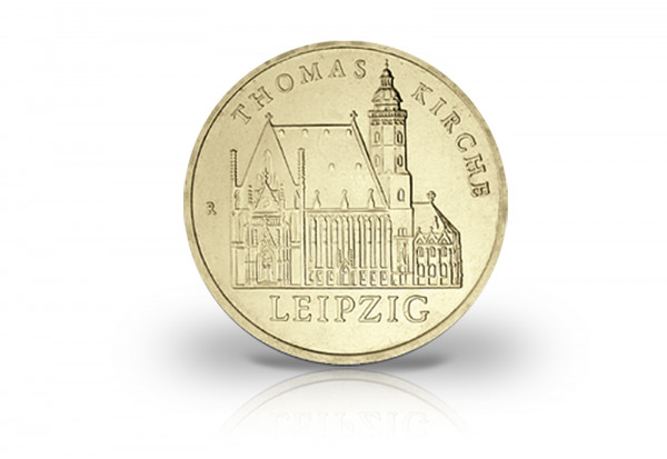 5 Mark Gedenkmünze 1984 DDR Thomaskirche Leipzig Jaeger-Nr. 1598