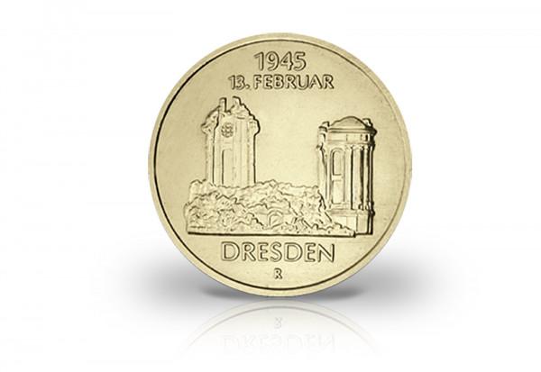 5 Mark Gedenkmünze 1985 DDR 40 Jahre Zerstörung Dresden Jaeger-Nr. 1601