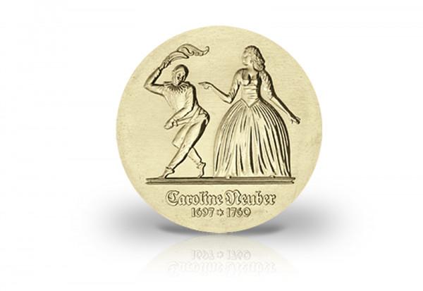5 Mark Gedenkmünze 1985 DDR Caroline Neuber Jaeger-Nr. 1604