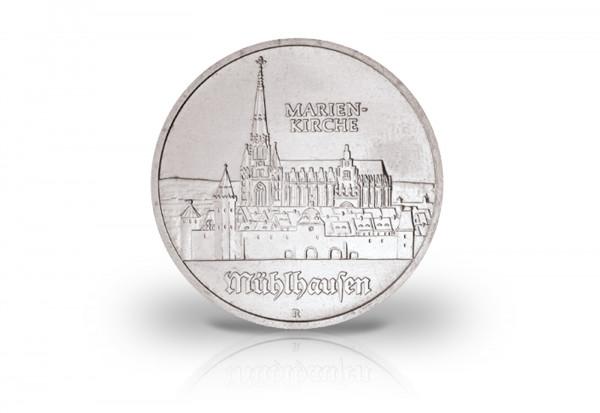 5 Mark Gedenkmünze 1989 DDR Marienkirche in Mühlhausen Jaeger-Nr. 1627