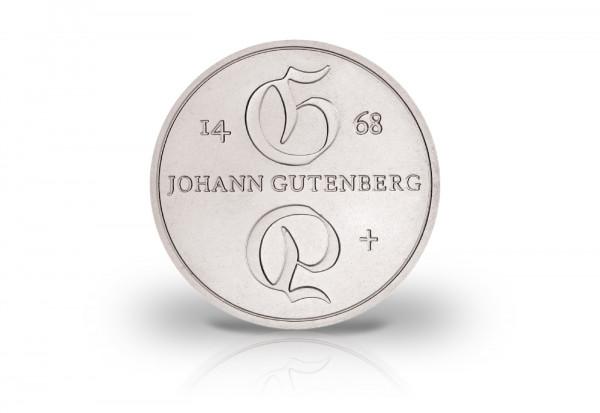 10 Mark Gedenkmünze 1968 DDR Johannes Gutenberg Jaeger-Nr. 1523