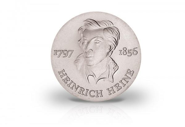 10 Mark Gedenkmünze 1972 DDR Heinrich Heine Jaeger-Nr. 1542